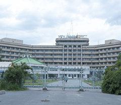 Архивное фото гостиницв Иссык-Куль в столице. Архивное фото