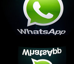 Логотип популярного мессенджера WhatsApp. Архивное фото
