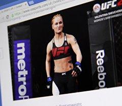 Снимок с официальной страницы игры EA Sports UFC. На фото изображена кыргызстанка Валентина Шевченко. Архивное фото