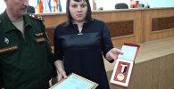 Медаль Вооруженных Сил Сирии вручена вдове российского матроса Позынича