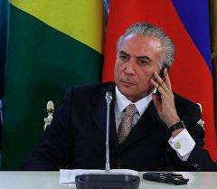 Исполняющий обязанности президента Бразилии Мишел Темер. Архивное фото