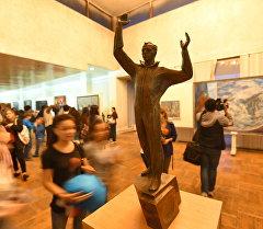 Бишкек шаарындагы Гапар Айтиев атындагы көркөм сүрөт музейинде Музейдеги түн акциясы
