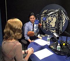 Кыргызстандын Бириккен Улуттар уюмундагы өкүлү Миргүл Молдоисаева Нью-Йорк шаарында БУУ радиосунда