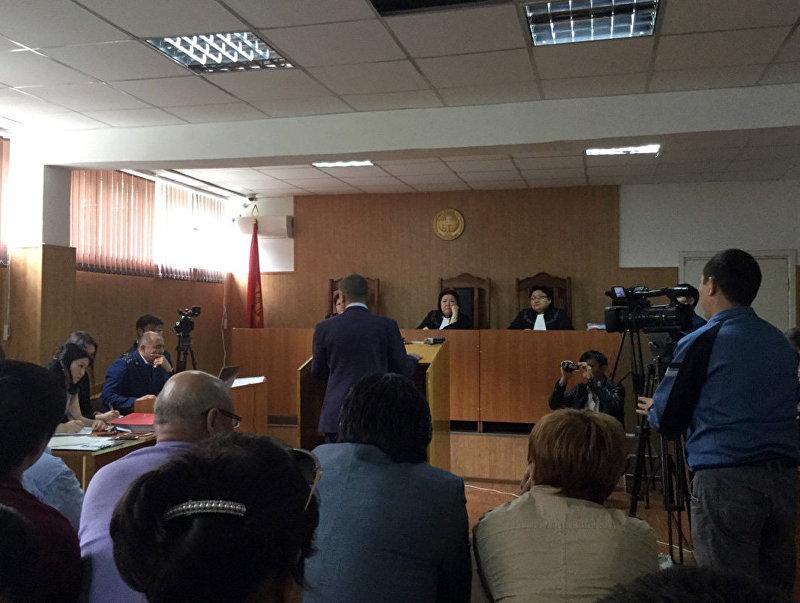 Выступление во время судебного процесса по делу Данияра Нарымбаева и Хаджимурата Коркмазова. Архивное фото