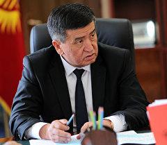 Архивное фото премьер-министра Сооронбая Жээнбекова