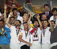 Испаниянын Севилья командасы футбол боюнча Европа лигасын утуп алды