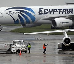 Самолет авиакомпании EgyptAir в аэропорту. Архивное фото