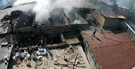 Аэросъемка: пожар на рынке Исфаны уничтожил киоски и павильоны