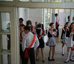 Выпускники школы. Архивное фото
