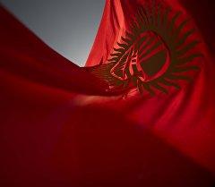 Кыргыз Республикасынын желеги. Архивное фото