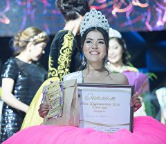 Мисс Кыргызстан — 2016 сулуулар сынагынын жеңүүчүсү Перизат Расулбек кызы