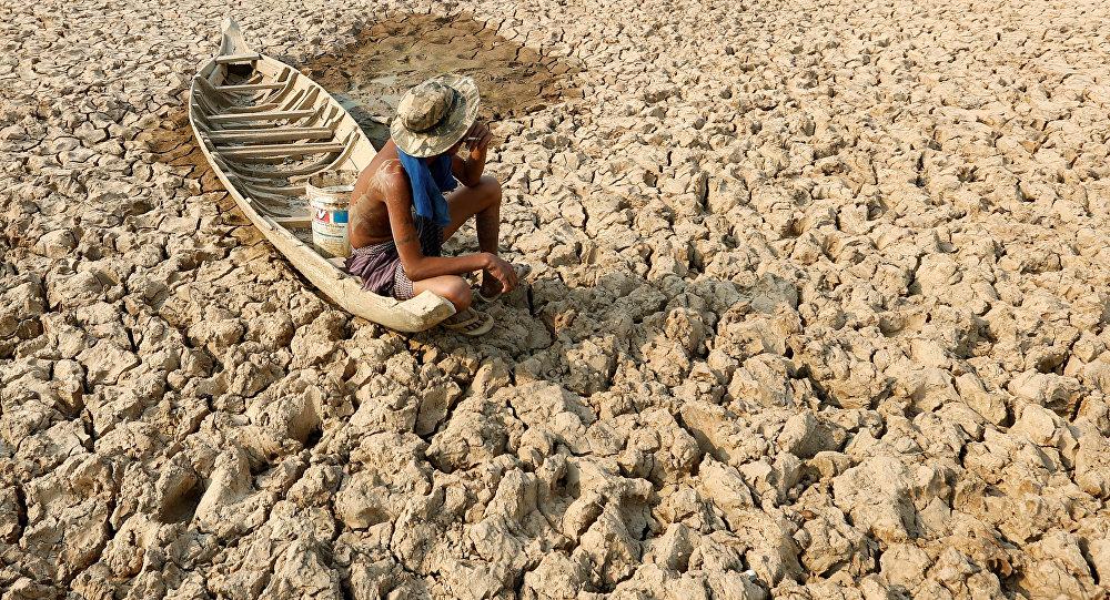 Последствия сильной засухи в Индии. Архивное фото