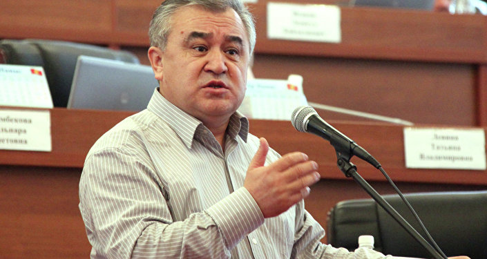 Лидер фракции Ата Мекен Омурбек Текебаев. Архивное фото