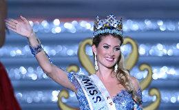 Мирейя Лалагуна из Испании после победы на конкурсе Мисс мира