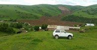 Сузак районундагы Алмалуу-Булак айылында жер көчкү