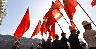 Участники празднования дня ак калпака в Бишкеке. Архивное фото