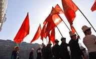 Праздничное шествие ко Дню празднования национального головного убора ак калпака в Бишкеке. Архивное фото