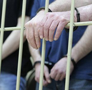 Задержанные в камере. Архивное фото