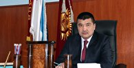 Мэр города Ош Айтмамат Кадырбаев в рабочем кабинете. Архивное фото