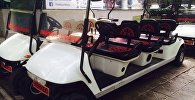 Гольф-кар (электромобиль) стоимостью 8 тысяч долларов украденный у бишкекчанки