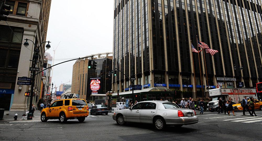 Вид на улицу в Нью-Йорке. Архивное фото
