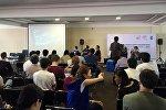 Участники марафона программирования Urban Data Hackathon — 2016 в Бишкеке