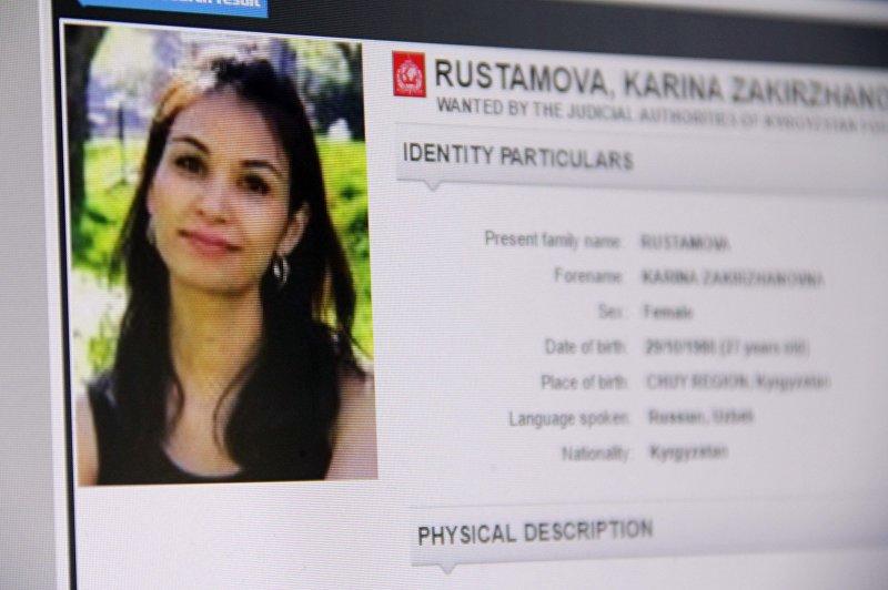 Объявленная в международный розыск 27-летняя гражданка Кыргызстана Карина Рустамова. Снимок со страницы официального сайта Интерпол