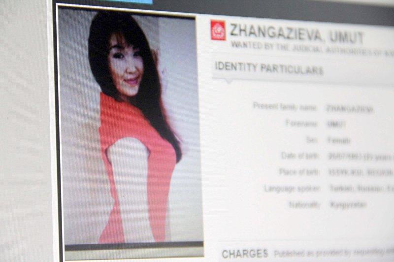 Объявленная в международный розыск 22-летняя гражданка Кыргызстана Умут Джангазиева, уроженка Иссык-Кульской области. Снимок со страницы официального сайта Интерпол