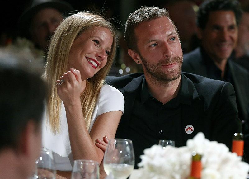 Лидер рок-группы Coldplay Крис Мартин и актриса Гвинет Пэлтроу