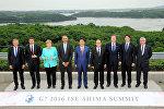 Лидеры G7 на саммите Большой семерки в Японии. Архивное фото