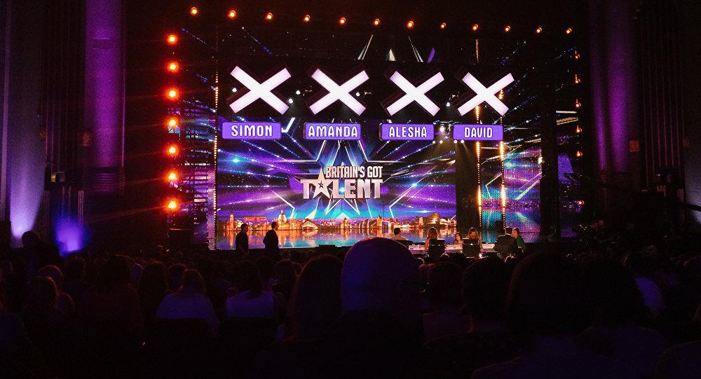 Вывеска британского телевизионного шоу Britain`s Got Talent. Архивное фото