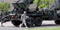 На польской военной базе Моронг, где размещена батарея американских ракет противовоздушной обороны Patriot. Архивное фото