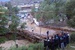 Селевой поток в Кадамджайском районе села Жийделик.