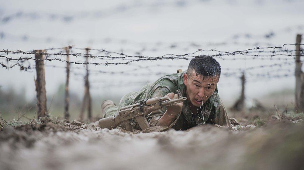 Испытание среди бойцов спецназа Скорпион на получение зеленого берета