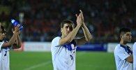 Кыргызстандын футбол боюнча курамасынын футболчусу Мирлан Мурзаевдин архивдик сүрөтү
