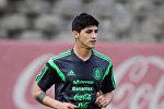 Мексиканын футбол боюнча курама командасынын оюнчусу Алан Пулидо. Архив