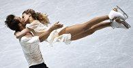 Габриэлла Пападакис менен Гийом Сизерон (Франция) Токиодогу көркөмдөп муз тебүү боюнча дүйнөлүк чемпионатта.
