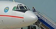 Вылет с рабочим визитом в Москву для участия в неформальной встрече с Президентами Армении, Белоруссии, России и Таджикистана (6 мая 2014 года, Международный аэропорт «Манас»)