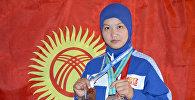 Дзюдоистка из Кыргызстана завоевавшая бронзовую медаль Каным Бурхан кызы