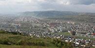 Вид на город Междуреченск с Сыркашинской горы. Архивное фото