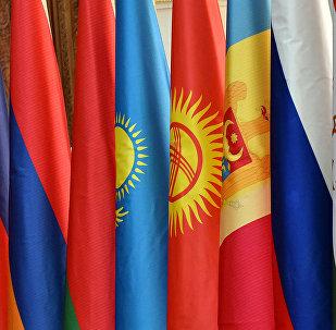 Флаги стран СНГ. Архивное фото
