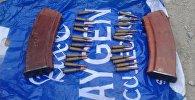 Обнаруженные патроны и магазины автомата калашникова