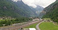 Церемония открытия самого длинного железнодорожного тоннеля в мире