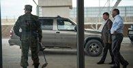 Кыргызстанский пограничник на посту. Архивное фото