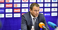 Тренер сборной Кыргызстана Александр Крестинин на пресс-конференции по окончании матча.