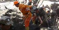 Бойцы МЧС рыли землю в поисках 3-летнего ребенка, унесенного селем