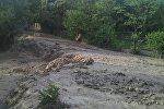 Последствия сошедшего селя в Кадамджайском районе