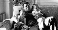 Мухаммед Али с дочерьми Лайлой и Ханной 19 декабря 1978 года. Архивное фото