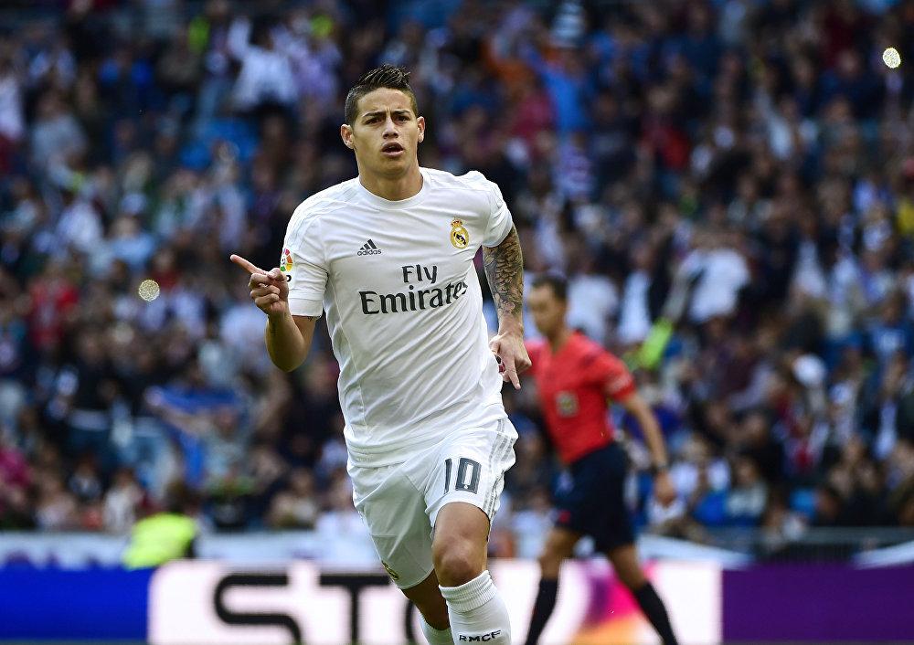 Колумбийский полузащитник Реала Джеймс Родригес