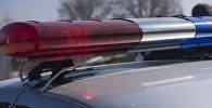 Проблесковый маяк на автомашине патрульной милиции. Архивное фото